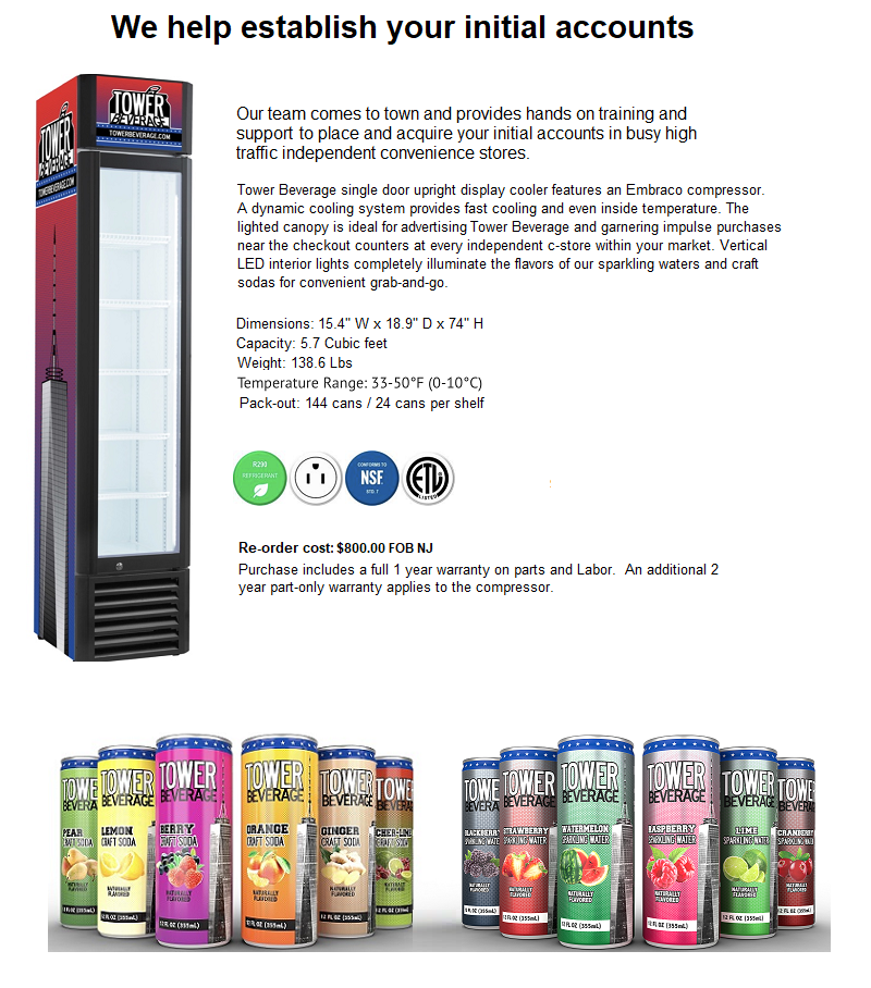 Tower Beverage Routes for Sale Coolers